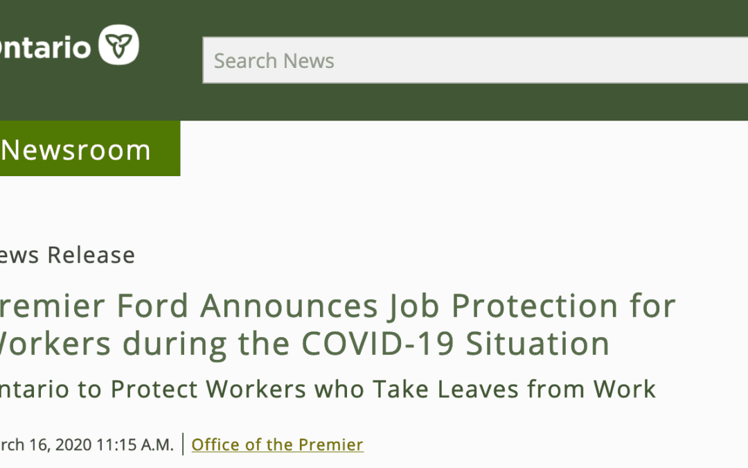 New Job Protections for Workers during COVID-19